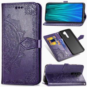 Кожаный чехол-книжка Art Case с визитницей для Xiaomi Redmi Note 8 Pro – Фиолетовый