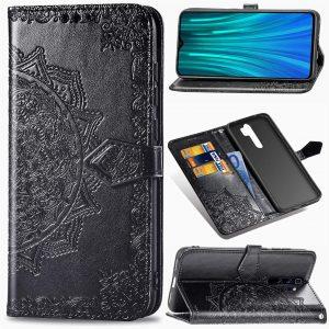 Кожаный чехол-книжка Art Case с визитницей для Xiaomi Redmi Note 8 Pro – Черный