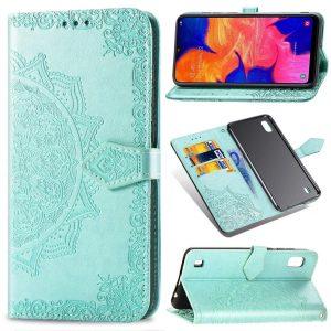 Кожаный чехол-книжка Art Case с визитницей для Samsung Galaxy A10 2019 (A105) – Бирюзовый