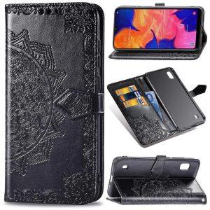 Кожаный чехол-книжка Art Case с визитницей для Samsung Galaxy A10 2019 (A105) – Черный
