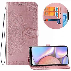 Кожаный чехол-книжка Art Case с визитницей для Samsung Galaxy A10s 2019 (A107) — Розовый