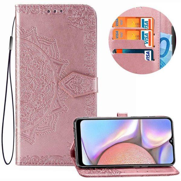 Кожаный чехол-книжка Art Case с визитницей для Xiaomi Redmi 8A – Розовый