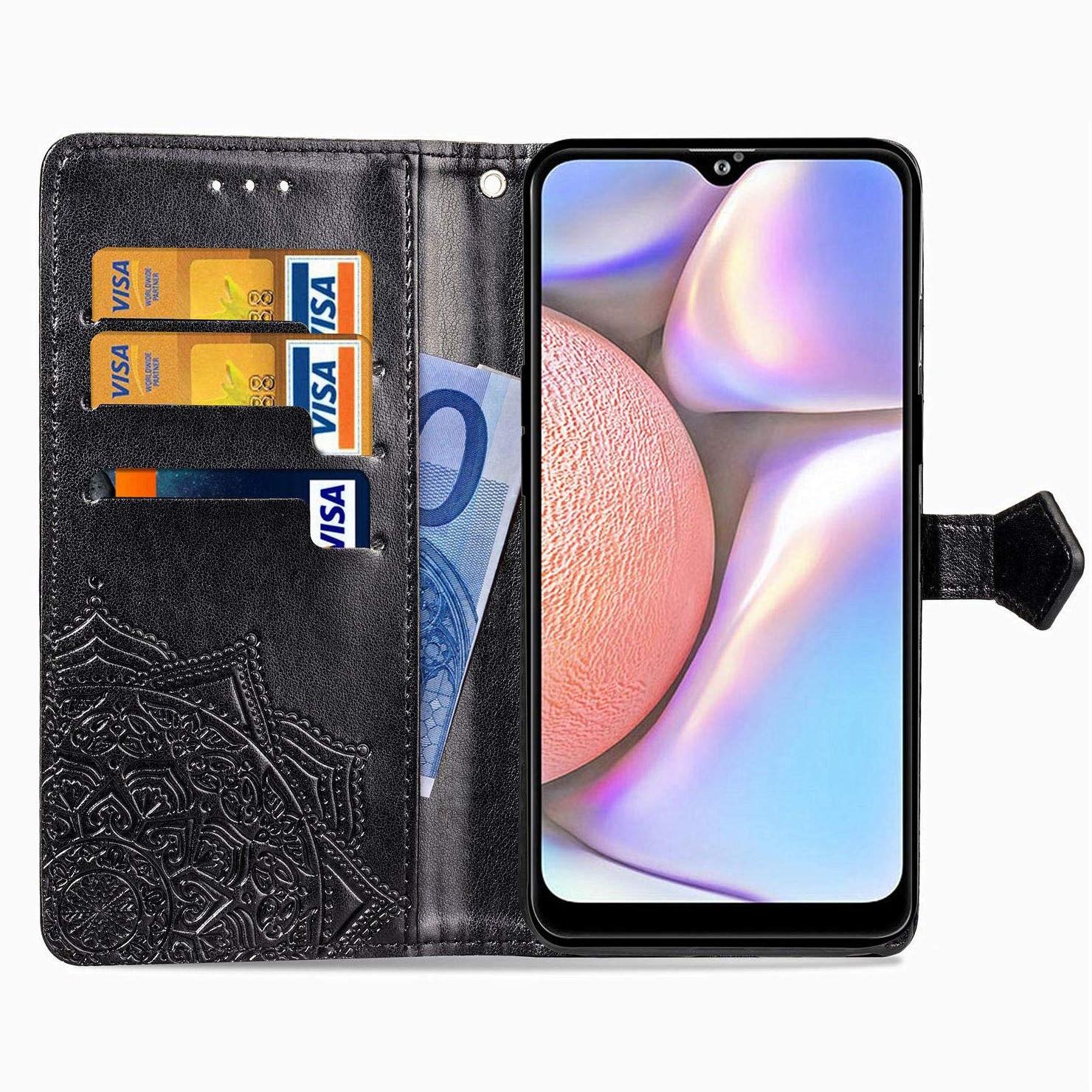 Кожаный чехол-книжка Art Case с визитницей для Samsung Galaxy A10s 2019 (A107) – Черный 34856