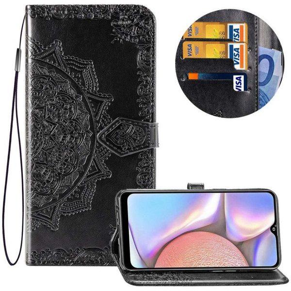 Кожаный чехол-книжка Art Case с визитницей для Xiaomi Redmi 8A — Черный