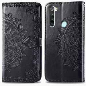 Кожаный чехол-книжка Art Case с визитницей для Xiaomi Redmi Note 8 – Черный