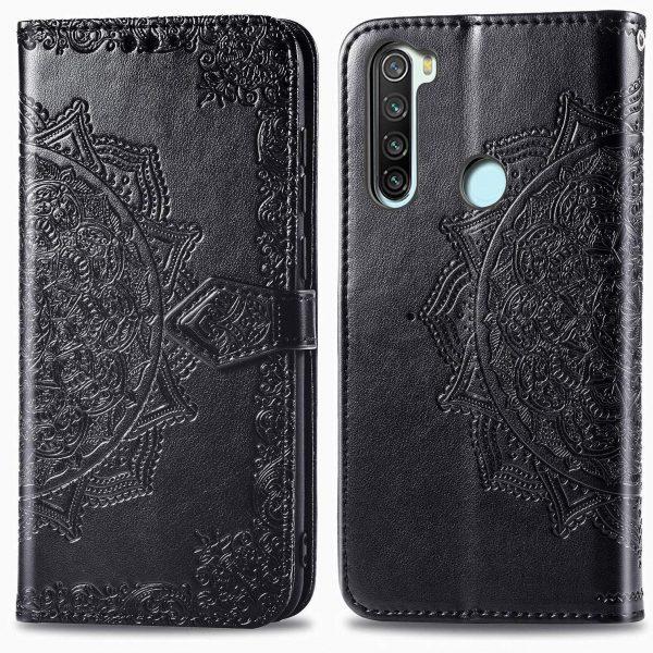 Кожаный чехол-книжка Art Case с визитницей для Xiaomi Redmi Note 8 — Черный