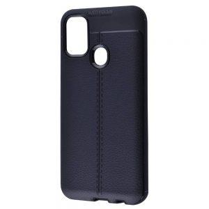 TPU чехол фактурный (с имитацией кожи) для Samsung Galaxy M30s / M21 – Black