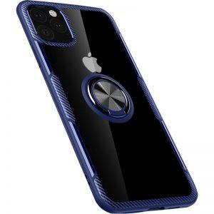 Чехол TPU+PC Deen CrystalRing с креплением под магнитный держатель для Iphone 11 Pro — Синий