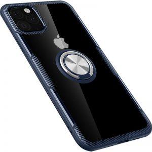 Чехол TPU+PC Deen CrystalRing с креплением под магнитный держатель для Iphone 11 Pro — Темно-синий