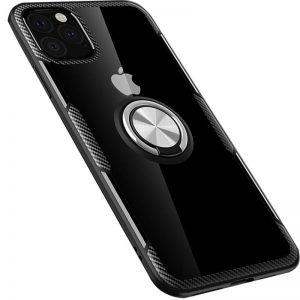 Чехол TPU+PC Deen CrystalRing с креплением под магнитный держатель для Iphone 11 Pro — Черный