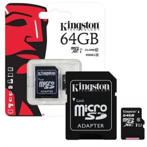 Карта памяти Kingston Micro SD 64GB Class HC-I 10 – Black
