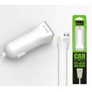 Автомобильное зарядное устройство Golf GF-C1+ кабель Lightning (1USB / 1A) – White