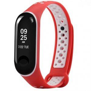 Ремешок для фитнес-браслета Xiaomi Mi Band 3 / 4 Sport – Red / White