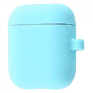 Чехол для наушников Silicone Case Slim + карабин для Apple Airpods 2 – Turquoise