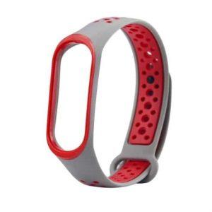 Ремешок для фитнес-браслета Xiaomi Mi Band 2 Sport – Gray / Red