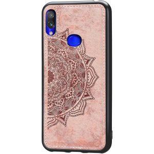 TPU+Textile чехол Mandala с 3D тиснением для  Samsung Galaxy A10s 2019 (A107) — Розовый