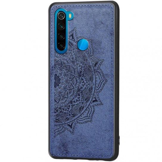 TPU+Textile чехол Mandala с 3D тиснением для  Xiaomi Redmi Note 8 — Синий