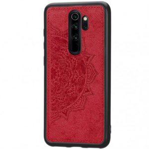 TPU+Textile чехол Mandala с 3D тиснением для  Xiaomi Redmi Note 8 Pro — Красный