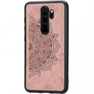 TPU+Textile чехол Mandala с 3D тиснением для  Xiaomi Redmi Note 8 Pro — Розовый