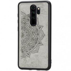 TPU+Textile чехол Mandala с 3D тиснением для  Xiaomi Redmi Note 8 Pro —  Серый