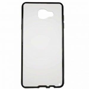 Прозрачный силиконовый чехол для Samsung Galaxy A5 2016 (A510) с глянцевой окантовкой – Черный