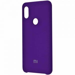 Оригинальный чехол Silicone Case с микрофиброй для Xiaomi Mi 8 SE – Purple