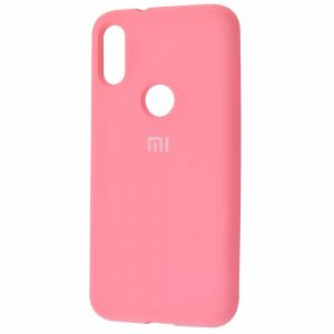 Оригинальный чехол Silicone Cover 360 с микрофиброй для Xiaomi Mi Play – Light pink