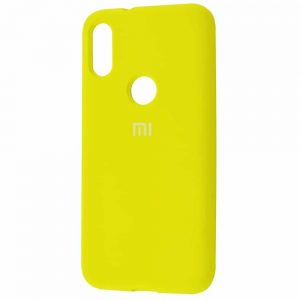 Оригинальный чехол Silicone Cover 360 с микрофиброй для Xiaomi Mi Play – Yellow