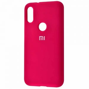 Оригинальный чехол Silicone Cover 360 с микрофиброй для Xiaomi Mi Play – Rose red