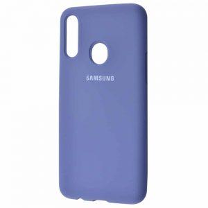 Оригинальный чехол Silicone Cover 360 с микрофиброй для Samsung Galaxy A20s 2019 (A207) – Lavender gray