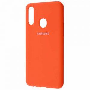 Оригинальный чехол Silicone Cover 360 с микрофиброй для Samsung Galaxy A20s 2019 (A207) – Orange