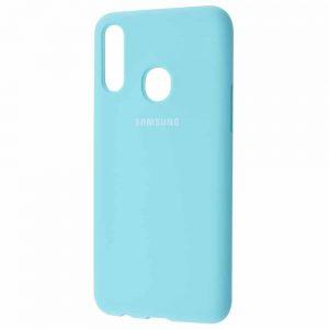 Оригинальный чехол Silicone Cover 360 с микрофиброй для Samsung Galaxy A20s 2019 (A207) – Turquoise
