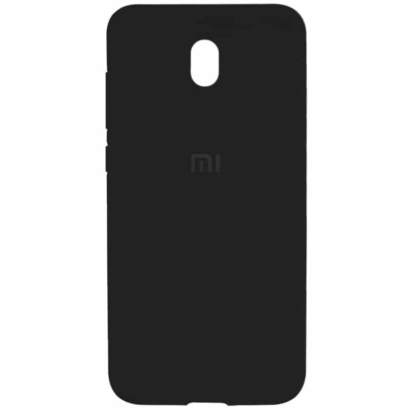 Оригинальный чехол Silicone Cover 360 с микрофиброй для Xiaomi Redmi 8A – Черный / Black