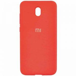 Оригинальный чехол Silicone Cover 360 с микрофиброй для Xiaomi Redmi 8A – Красный / Red