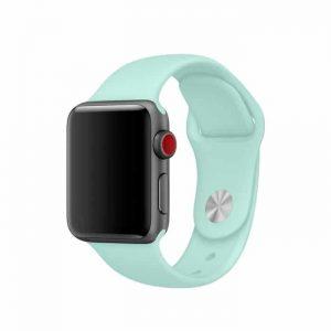 Ремешок силиконовый для Apple Watch 38 mm / 40 mm / SE 40 mm – №21 Light Mint