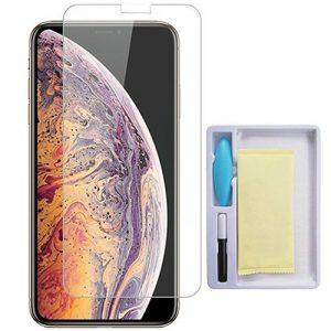 Защитное стекло 3D / 5D UV Full Glue с УФ клеем для Iphone X / XS / 11 Pro  – Clear