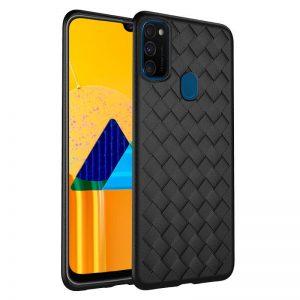 Cиликоновый (TPU) чехол Weaving Case для Samsung Galaxy M30s / M21 – Черный