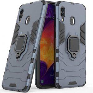 Ударопрочный чехол Transformer с подставкой для Samsung Galaxy A40 2019 (A405) – Серый / Metal slate