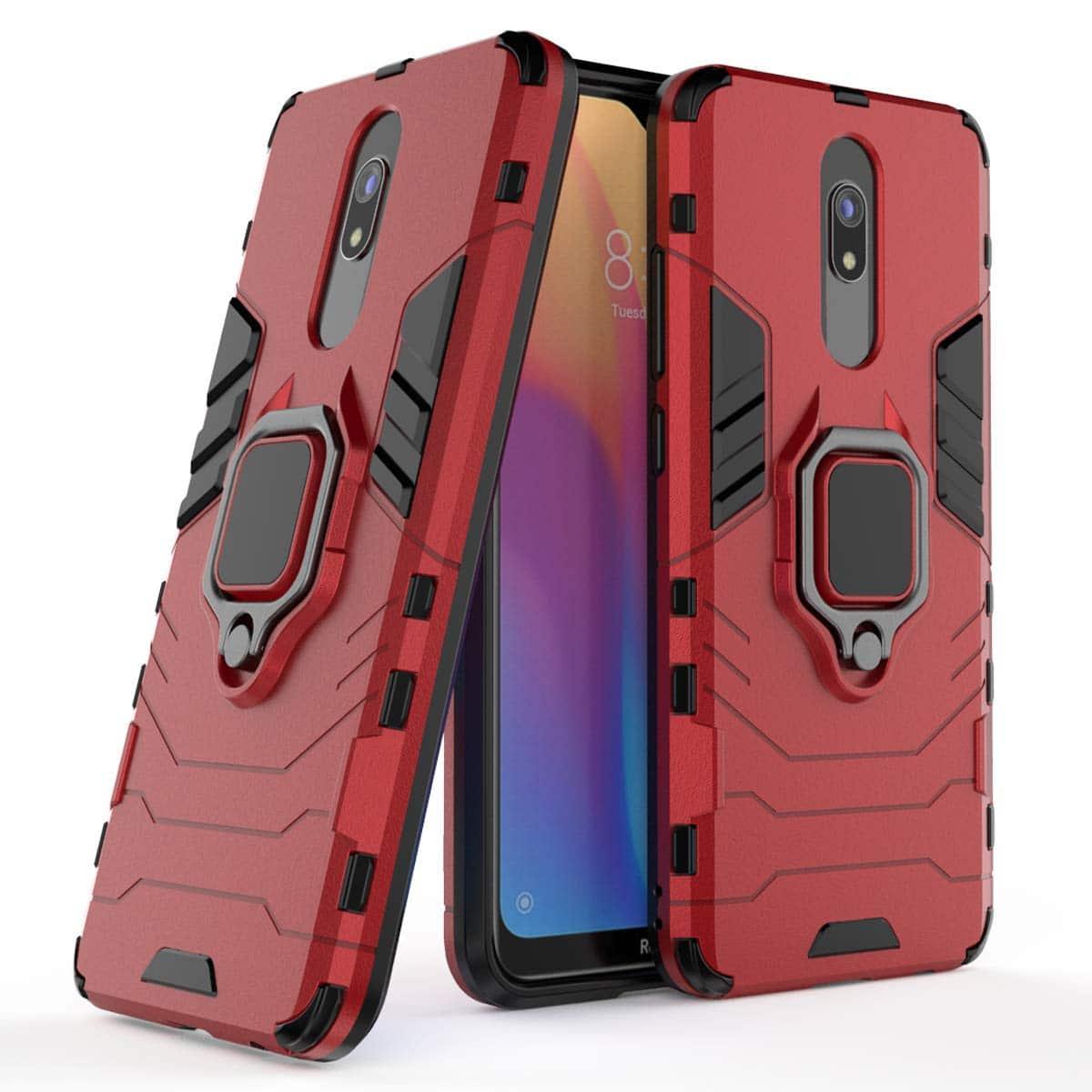 Ударопрочный чехол Transformer Ring под магнитный держатель для Xiaomi Redmi 8 / 8a — Красный