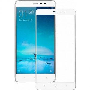 Защитное стекло 2.5D (3D) Full Cover на весь экран для Xiaomi Redmi Note 3 / 3 Pro – White