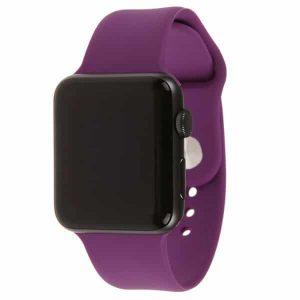 Ремешок силиконовый для Apple Watch 42 mm / 44 mm №28 – Purple