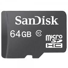 Карта памяти SanDisk Micro SD 64GB Class HC 10 – Black