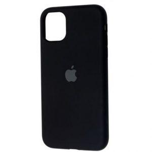 Оригинальный чехол Silicone Cover 360 с микрофиброй для Iphone 11 – Black