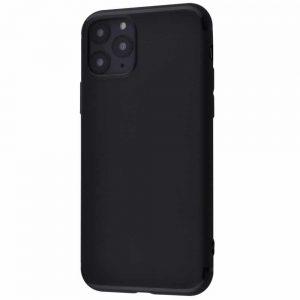 Матовый силиконовый TPU чехол для Iphone 11 Pro Max – Черный