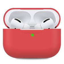 Чехол для наушников Silicone Case + карабин для Apple Airpods Pro – Red