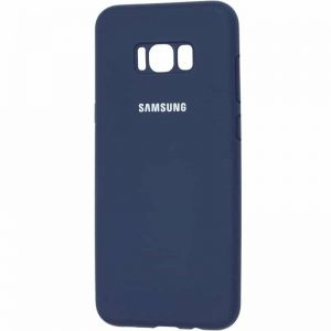 Оригинальный чехол Silicone Cover 360 с микрофиброй для Samsung Galaxy S8 Plus (G955) – Midnight blue