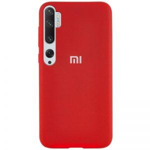 Оригинальный чехол Silicone Cover 360 с микрофиброй для Xiaomi Mi Note 10 / Mi Note 10 Pro – Красный / Red
