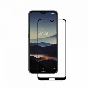 Защитное стекло 2.5D (3D) Full Cover на весь экран для Nokia 7.2 – Black
