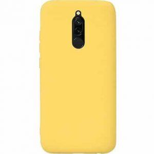 Матовый силиконовый (TPU) чехол для Xiaomi Redmi 8 / 8A -Желтый