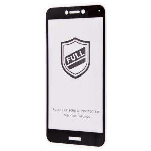 Защитное стекло 3D (5D) Perfect Glass Full Glue на весь экран для Huawei P8 Lite 2017 – Black